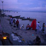 Paul Nevin Varanasi Travel Photo Manikarnika Ghat night